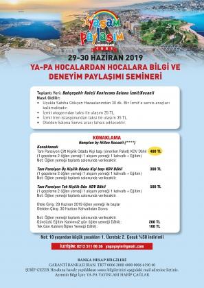 YA-PA İzmit Hocalardan Hocalara Uygulamalı Öğretmen Semineri